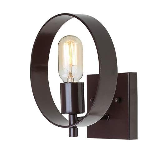 LNC Transitional Wall Lamp 1-Light Wall Sconces Use E26 Bulb Sconces Wall Lighting, Bronze (Metal)