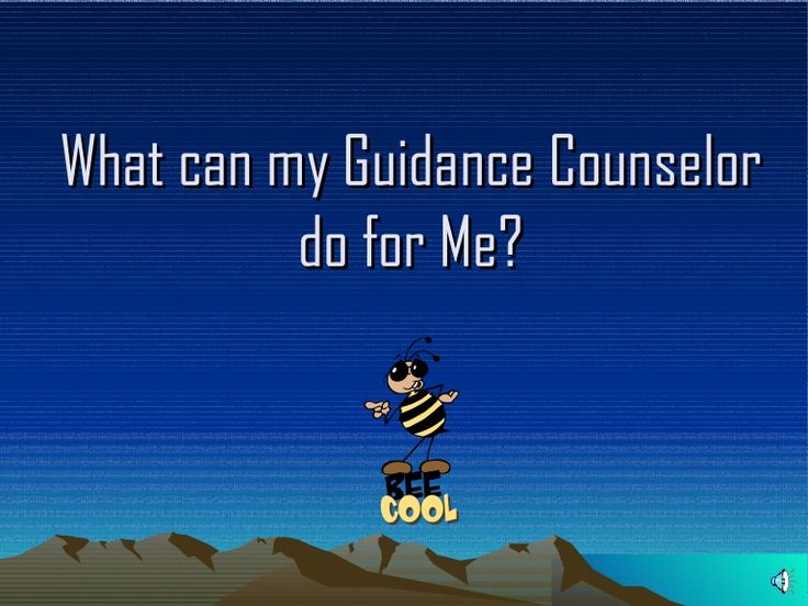 Guidance Counselor sites me