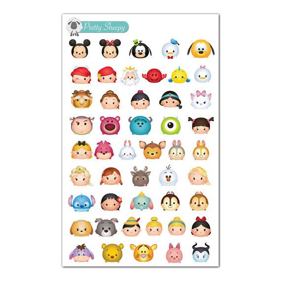 Tsum Tsums Stickers (Mini) - Disney Planner Stickers