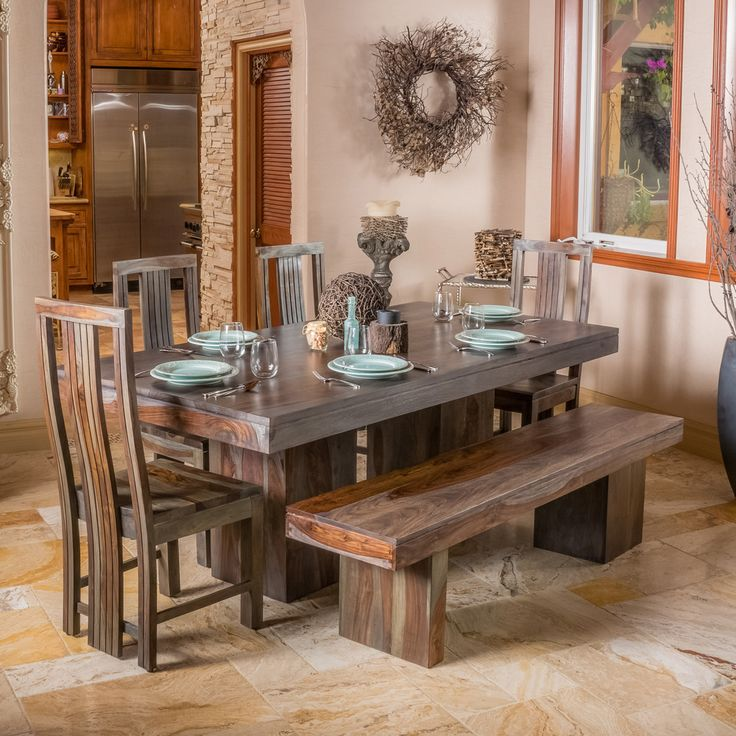 Christopher knight home russett and grey toned dining for Dining table deals