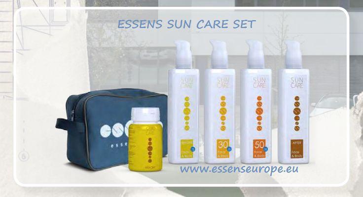 ESSENS SUN CARE SET - opalovací péče  Výhodný set obsahuje všech pět jedinečných produktů ESSENS Sun Care za neuvěřitelně výhodnou cenu!!! Zdarma navíc získáte praktickou taštičku ESSENS a Katalog ESSENS Sun Care!  Členové klubu ESSENS nakupuji téměř 40% - 74%...levněji  Staňte se členem a nakupujte výhodně přímo u ESSENS. více:http://www.essens-czech.cz/essens-sun-care/