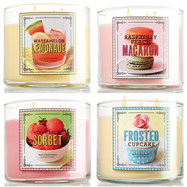 bath and body works sweet shop candles