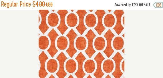 SALE SALE Fat Quarter Tangerine orange Fabric by FabricSecret