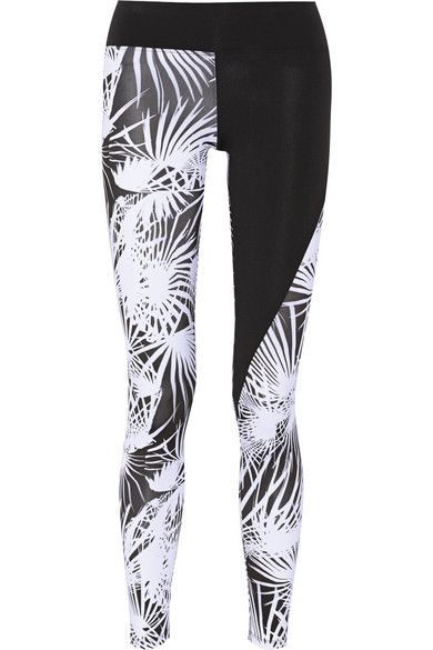 Paneled floral-print stretch-jersey leggings, by Live The Process. Love the print.