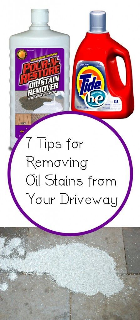 7 tips for removing oil stains from your driveway stains