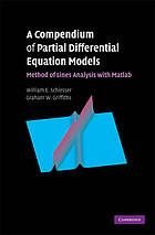 Schiesser, W E, and Graham W. Griffiths. A Compendium of Partial Differential Equation Models: Method of Lines Analysis with Matlab. Cambridge: Cambridge University Press, 2009. Print.