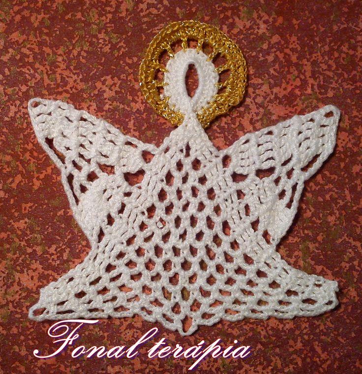 karácsonyi#angyalka#horgolt