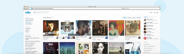 http://www.rdio.com/features/