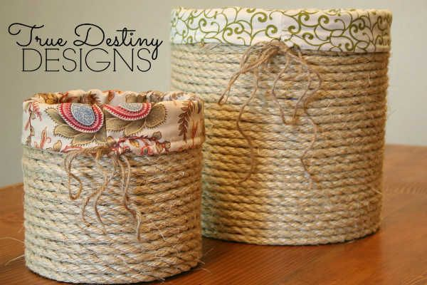 Turn Old Popcorn Tins into Stylish Lined Baskets!  Do you have any old Popcorn tins from Christmas or the other holidays around your house? If so, you can