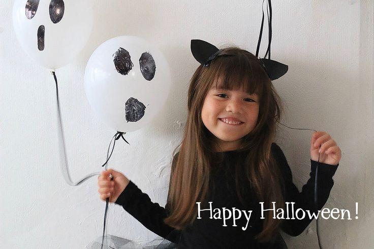 あそび育 |   画用紙とヘアピンで簡単ハロウィン猫