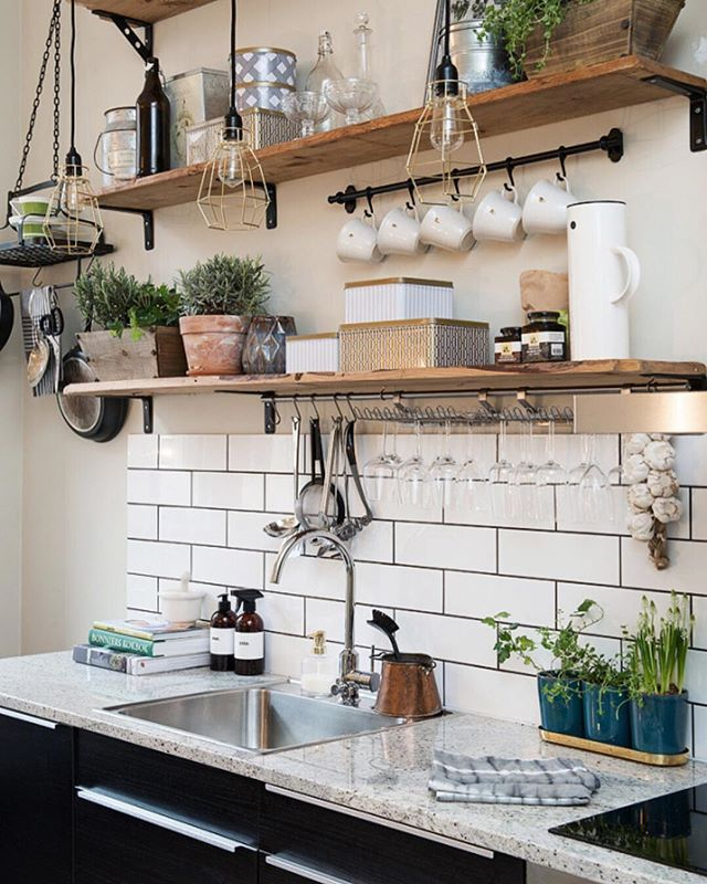 Starting Sunday With Some Morning DIY Love The Idea Of Open Shelving Transforming Your Kitchen Weve Got Interior Design Tips That Will Change