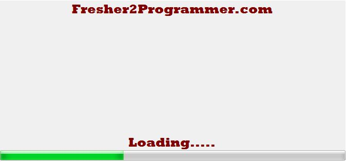 Splash Screen in Windows forms using C# « Fresher2Programmer