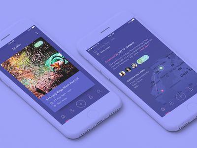 Events App UI Exploration
