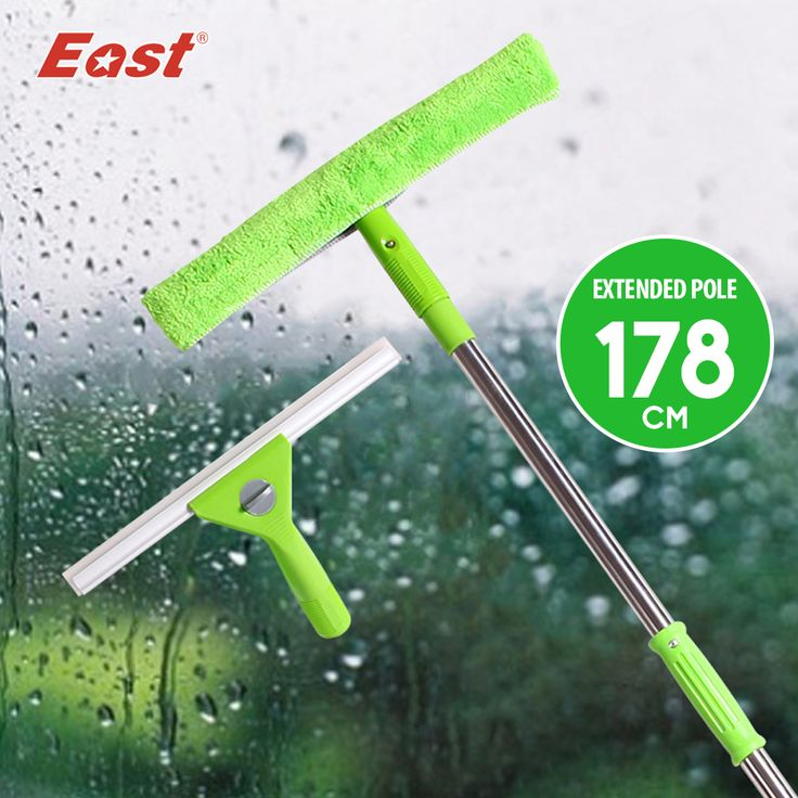 East Super Changeable Window Squeegee Glass Brush Microfiber Glass Cleaner Window Cleaner  for Home Cleaning
