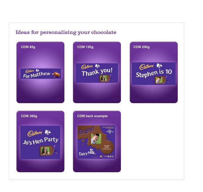 Personalised Cadbury Gifts