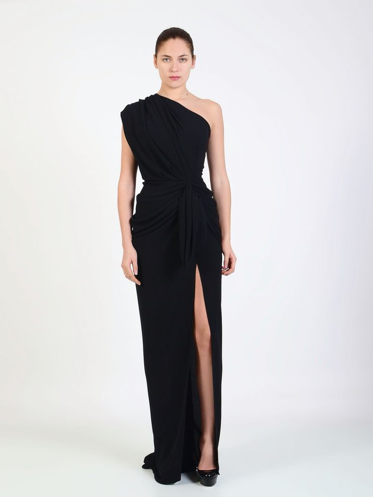 Rhea Costa one shoulder gown