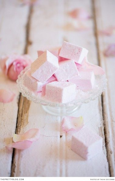 Homemade Rosewater Marshmallows