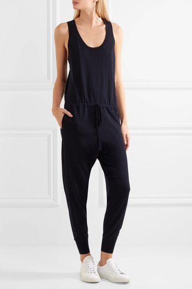 Stella McCartney - Aio Ribbed Wool Jumpsuit - Midnight blue