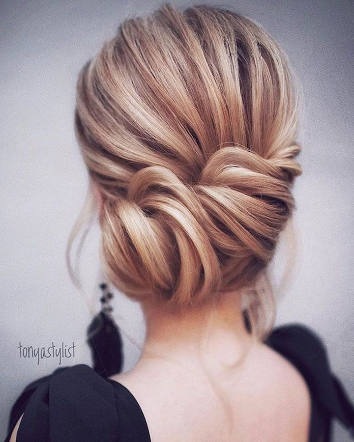 Loose & Romantic Wedding Hair from Tonystylist ~ pretty loose chignon