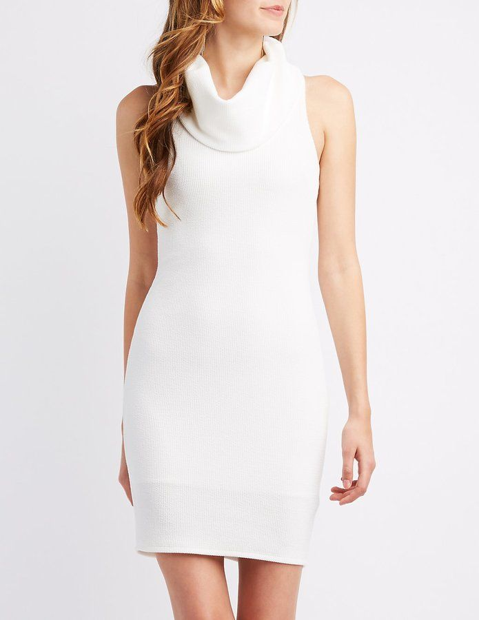 Charlotte Russe Cowl Neck Sweater Dress
