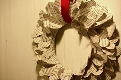 Valentine book wreath