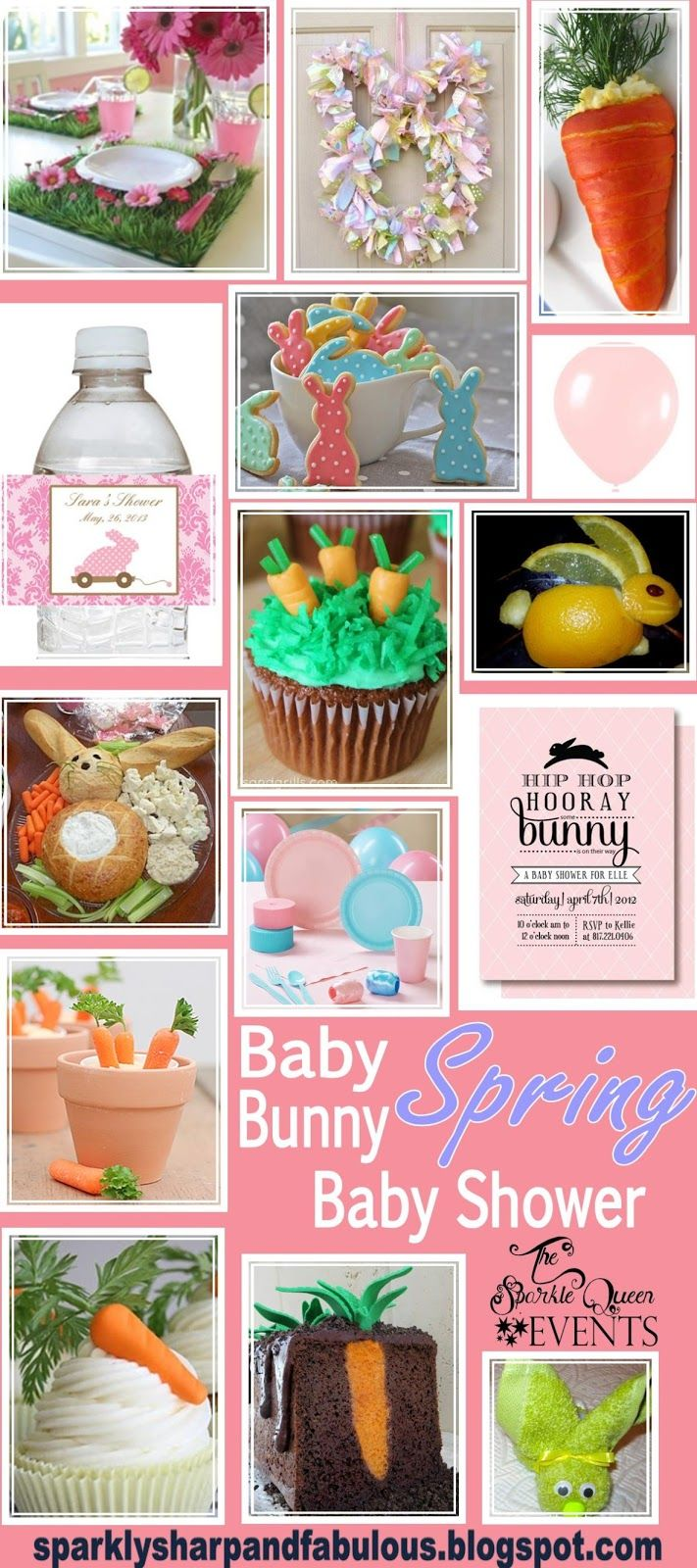 Baby Bunny {SPRING} Baby Shower - a complete idea board. Use all of those clearance Easter goodies for a great party!