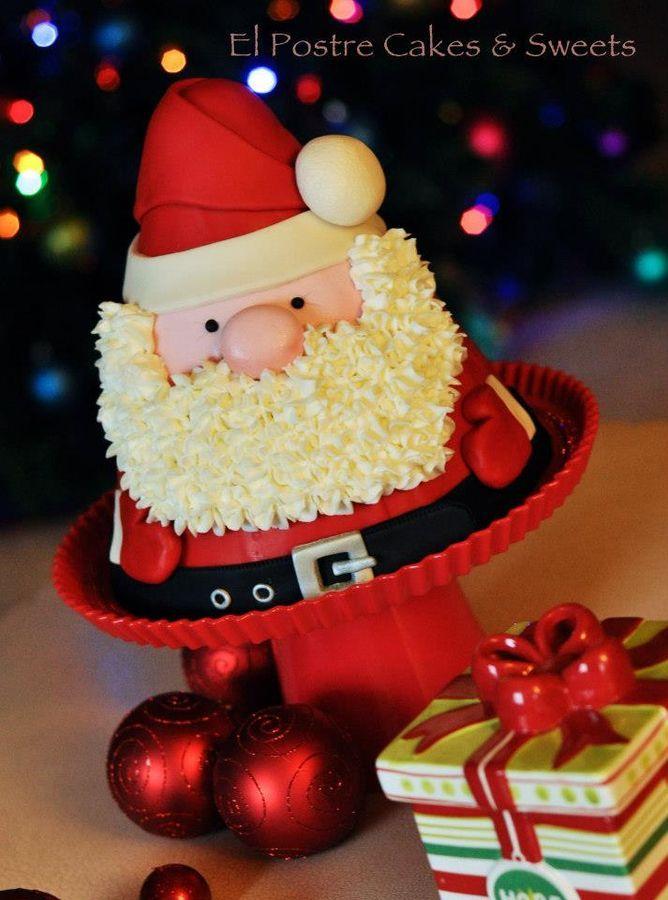 Ideal esta tarta de Papá Noel ¡Monísima! || Santa Cake