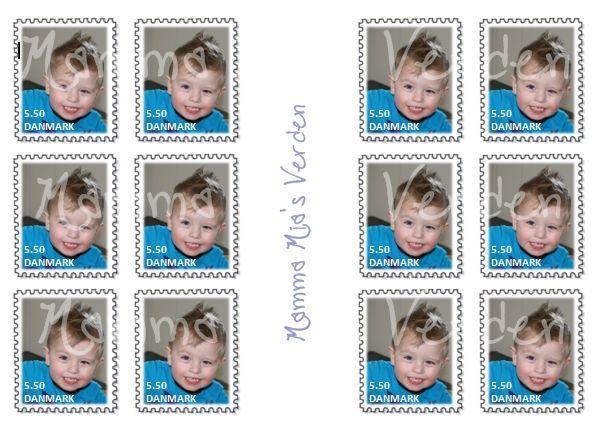 UPDATE! Kan også købes lige her  - hvis ikke man selv kan hitte ud af det!   Jeg har i dag lavet personlige frimærker til August, som han ka...