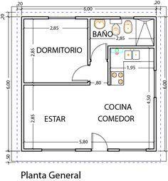 Diseño y planos vivienda 1 dormitorio 39m2 - Viviendas Tríade