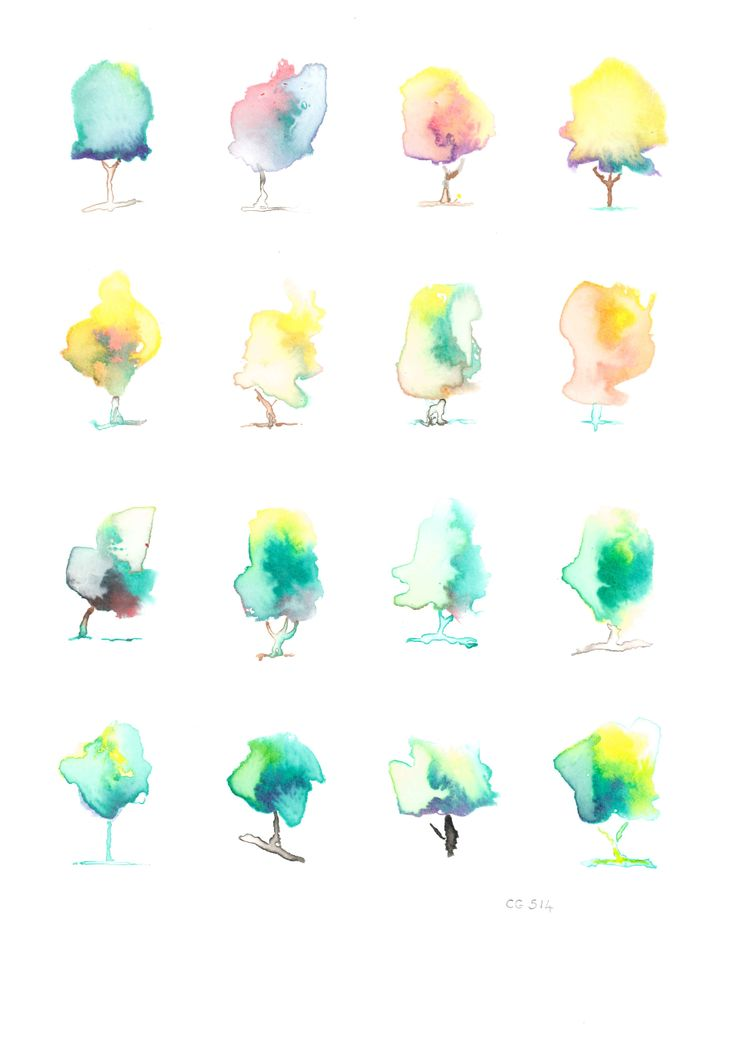 Trees, Ink on Water Colour paper 30cm x 40cm