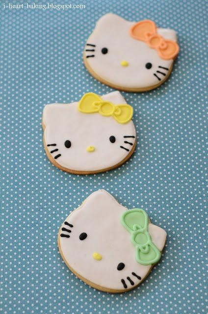 i heart baking!: pastel hello kitty cookies, macarons, and bow cupcakes for a bridal shower dessert table