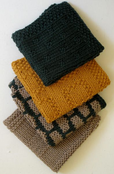 Busy Bee - kitchen dishcloths knitting some Mason-Dixon Ball Band - free pattern