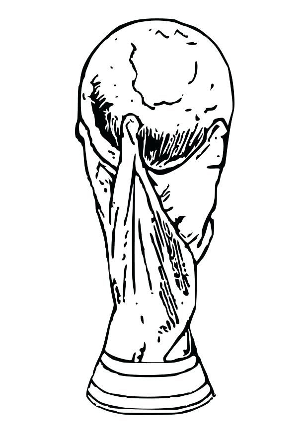 Fifa World Cup 2018 Trophy And Logo Coloring Pages Coloring Pages Sports Coloring Pages Cartoon Coloring Pages