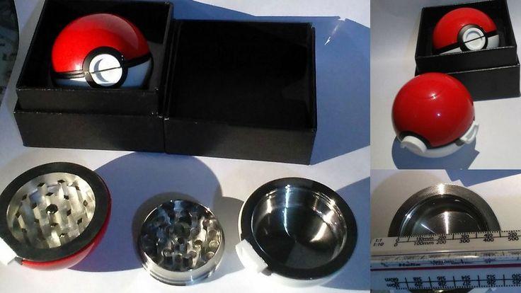 55mm 3 Pc Pokeball Pokemon Grinder Tobacco Herb Spices Kitchen Aid Novelty Gift  #unknown