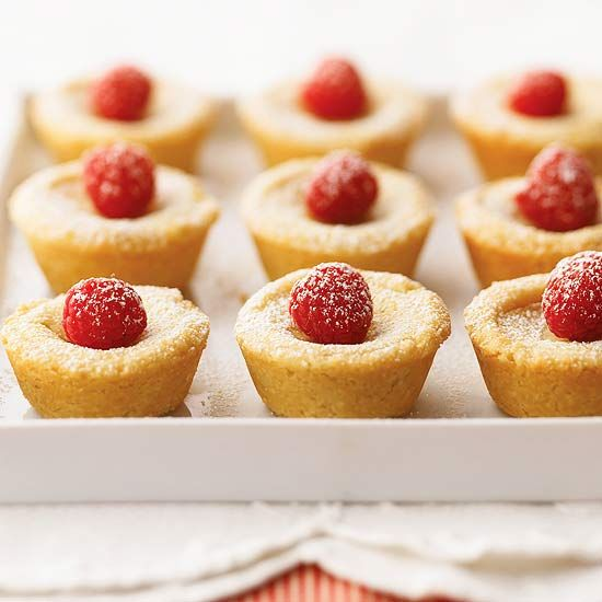 We've topped these sweet almond treats with fresh raspberries and ...