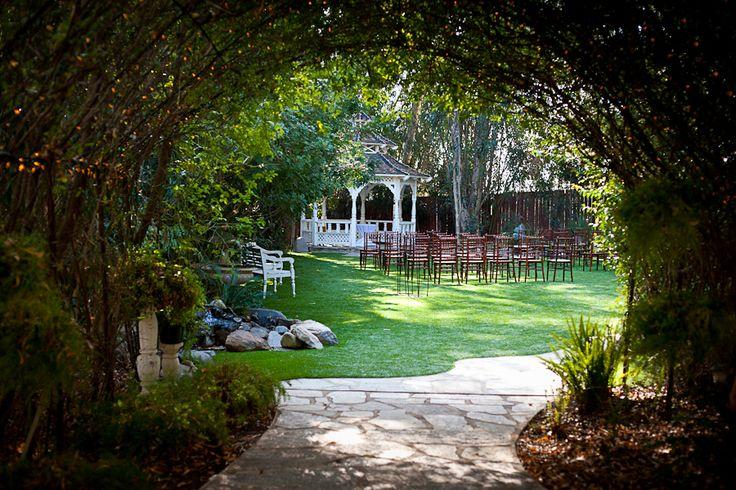 Twinkle lit walkway to forever <3 – San Diego Weddings   Southern California Weddings   San Diego Premier Wedding Venue   Twin Oaks Weddings