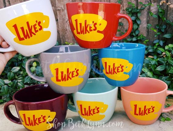 Luke's Diner Inspired Big Mug logo on BOTH by BethLynnDesigns (the mint green one or the white one)