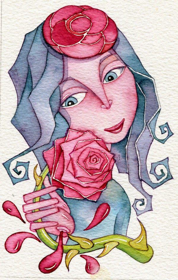 Pinzellades al món: Una rosa per al Dia de Sant Jordi / Una rosa para el Dia de San Jorge / A rose for St George's Day