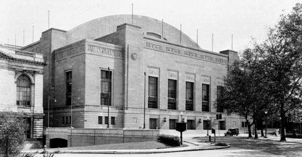 Convention Hall was built in 1931 and originally named Municipal Auditorium. This large indoor arena could accommodate the city's giant events, and for decades that is exactly what it did. The site was used for many huge Philadelphia gatherings including the 1936 & 1948 Democratic National Conventions, and the 1940 & 1948 Republican National Conventions. In 1960, the NBA All-Star game was played at Convention Hall.