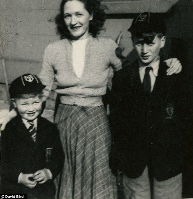 Family snap: John Lennon aged 11, right, with his cousin David Birch and aunt Harriet in W...