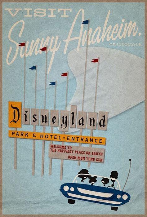 Vintage Disneyland poster >> Looking forward to visiting Disneyland in a month!