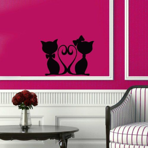 Best Hearts Love Romantic Wall Decals Images On Pinterest - Vinyl decal cat pinterest