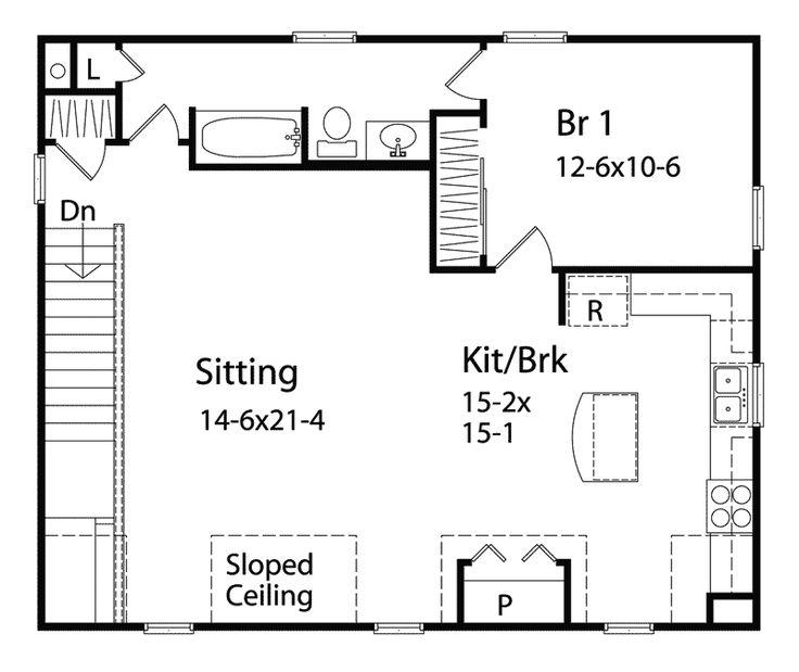 die besten 10+ garage apartment floor plans ideen auf pinterest ... - Garagen Apartment Gastezimmer Bilder