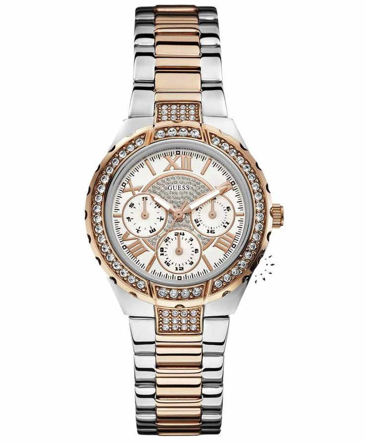 GUESS Vivacious Crystal Two Tone Stainless Steel Η τιμή μας: 195€ http://www.oroloi.gr/product_info.php?products_id=35128