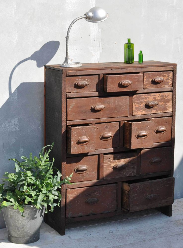 industrial looking furniture. antique merchants chest of drawers dating from the late 1800s vintage interior style by if industrial looking furniture