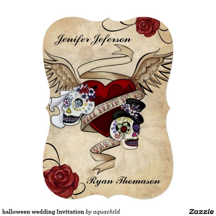 96 best halloween chic invitations images on pinterest halloween halloween wedding invitation stopboris Images
