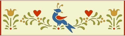 Folk art border 1 stencil
