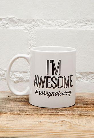 Tickled Teal I'm Awesome Mug | FOREVER21 | #f21home