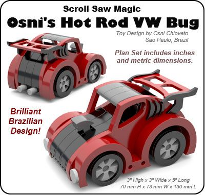 Scroll Saw Magic Osni S Hot Rod Vw Bug Wood Toy Plan Set