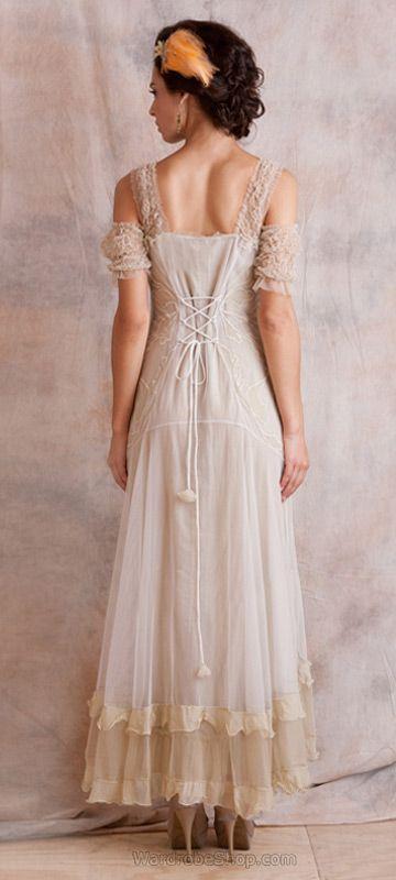 Venetian 40153 Cream Vintage Dress